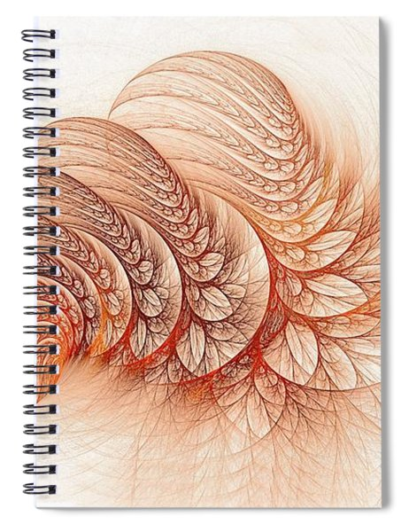 Leaves Of The Fractal Ether-2 Spiral Notebook