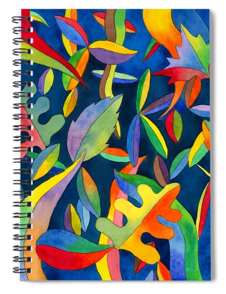 Leaves On Water Abstract Spiral Notebook