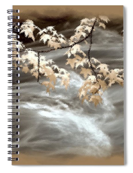 Leaves Over Gossamer Waters Spiral Notebook