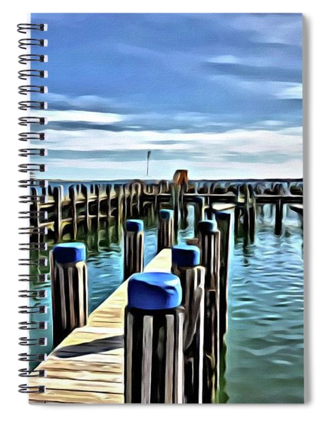 Leaving The Harbour Spiral Notebook