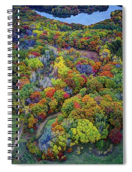 Lebanon Hills Park Eagan Mn Autumn II By Drone Spiral Notebook