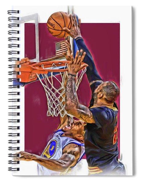 Lebron James Cleveland Cavaliers Oil Art Spiral Notebook