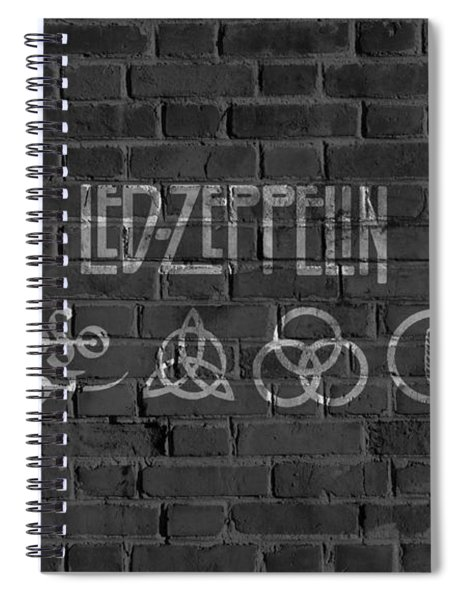Led Zeppelin Brick Wall Spiral Notebook