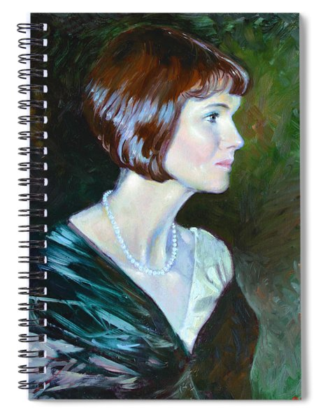 Ledy In Green Spiral Notebook