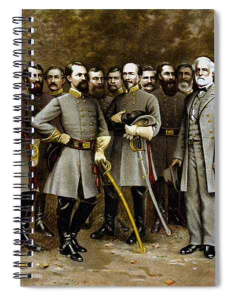 Robert E. Lee And His Generals Spiral Notebook