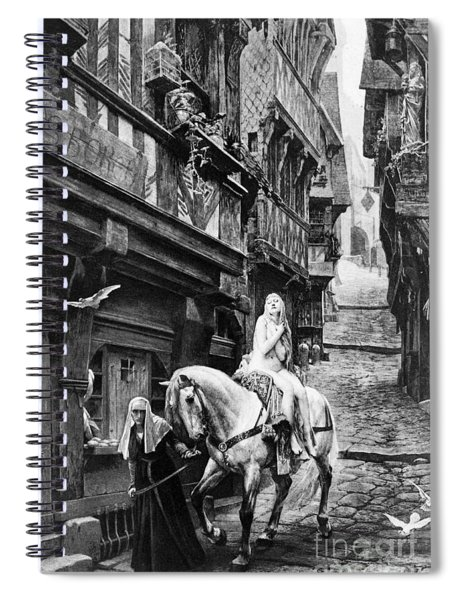 Legend Of Lady Godiva, 11th Century Spiral Notebook