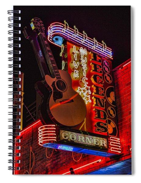 Legends Corner Nashville Spiral Notebook