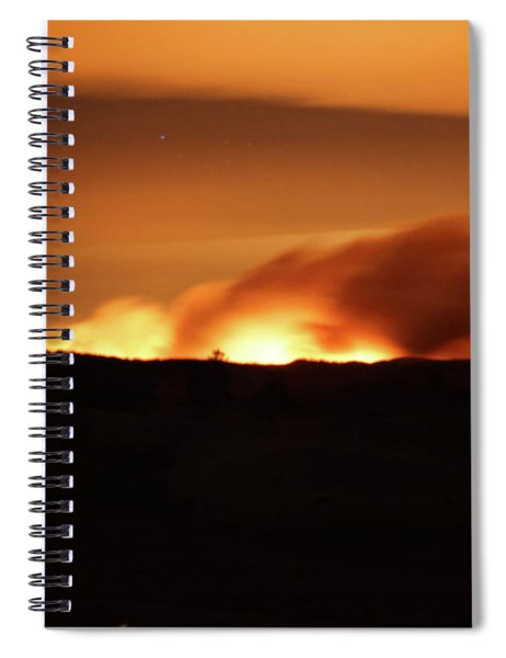 Legion Lake Fire At Night Spiral Notebook