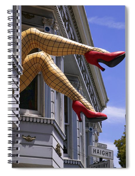 Legs Haight Ashbury Spiral Notebook