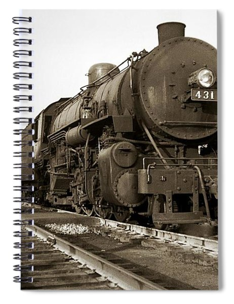 Lehigh Valley Steam Locomotive 431 At Wilkes Barre Pa. 1940s Spiral Notebook