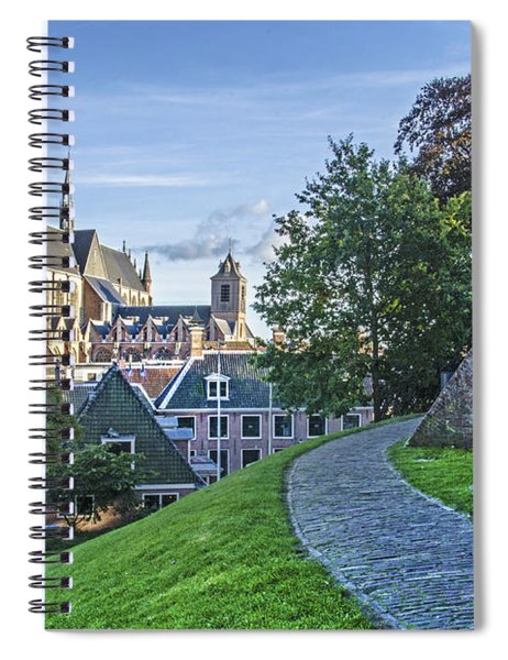 Leiden, The Church And The Castle Spiral Notebook