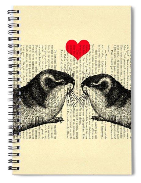 Lemmings In Love Spiral Notebook