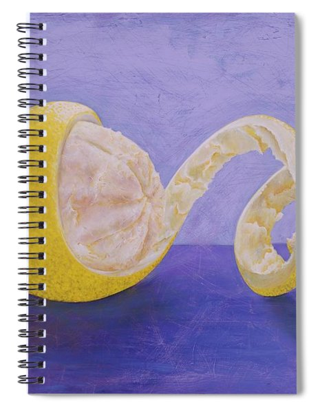 Lemon Peel Twist Spiral Notebook