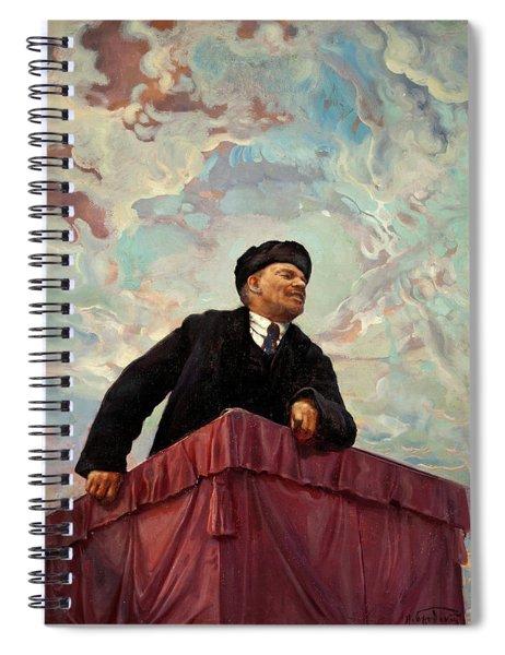 Lenin On A Rostrum Spiral Notebook