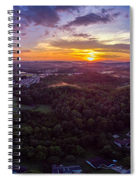 Lenoir North Carolina  Sunset Spiral Notebook