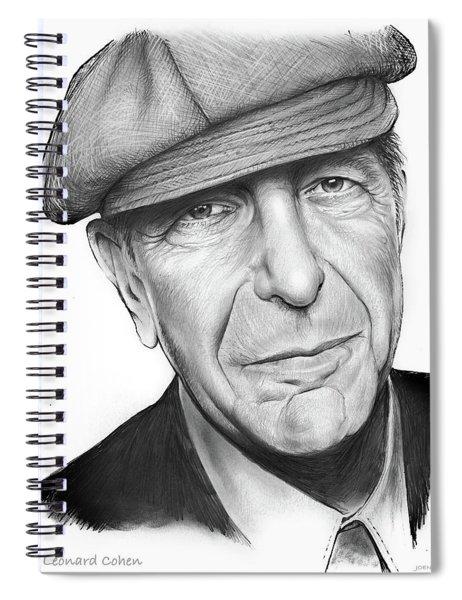 Leonard Cohen Spiral Notebook