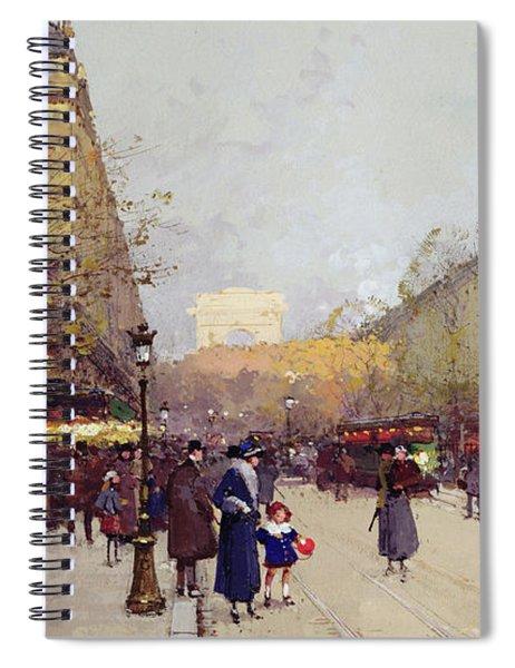 Les Champs Elysees, Paris Spiral Notebook