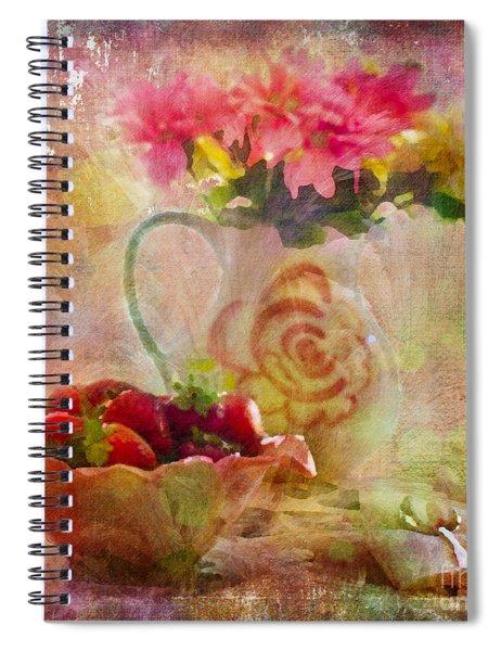 Les Fraises Et Les Fleurs 2015 Spiral Notebook
