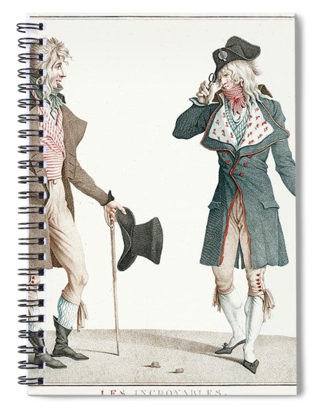 Les Incroyables By Carle Vernet Spiral Notebook