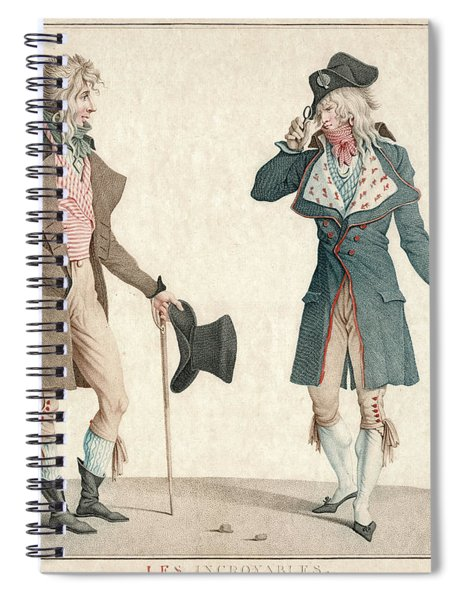 Les Incroyables French Post-revolutionary Fashion Spiral Notebook