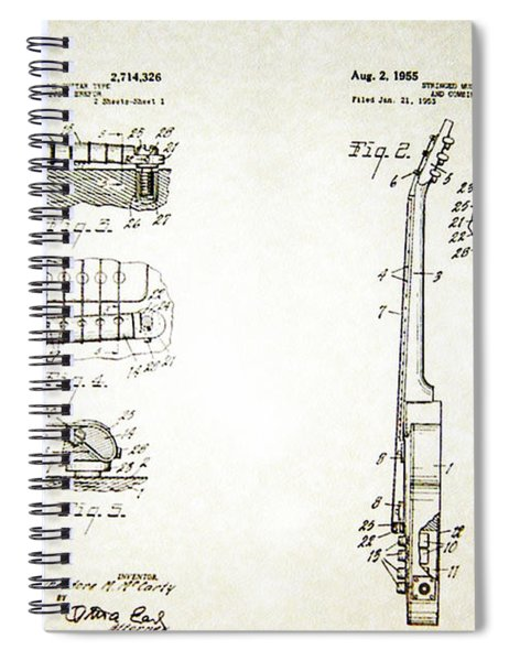 Les Paul Guitar Patent 1955 Spiral Notebook