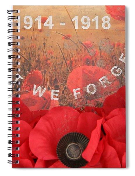 Lest We Forget - 1914-1918 Spiral Notebook