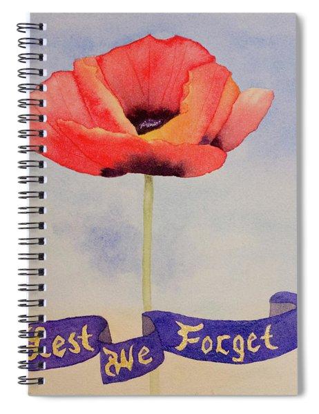 Lest We Forget Spiral Notebook