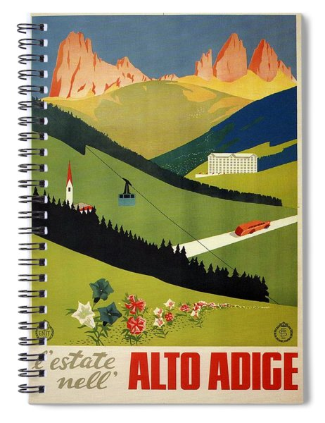 L'estate Nell Alto Adige, Italy - Retro Travel Poster - Vintage Poster Spiral Notebook