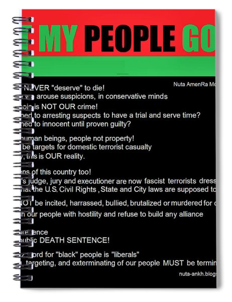 Let Our People Go Spiral Notebook