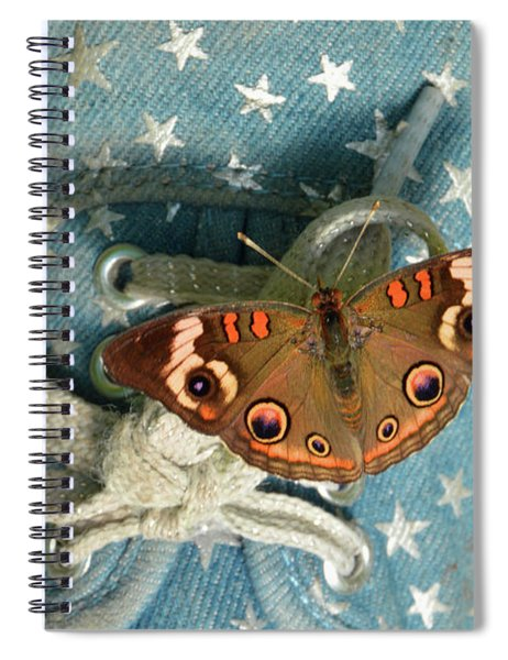 Let Your Spirit Fly Free- Butterfly Nature Art Spiral Notebook