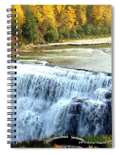 Letchworth State Park Middle Falls Autumn Spiral Notebook