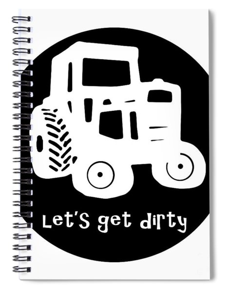 Lets Get Dirty Round Circle Beach Towel Spiral Notebook