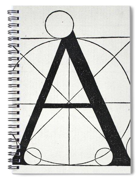 Letter A Spiral Notebook