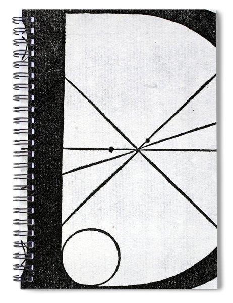Letter D Spiral Notebook
