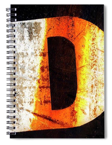 Letter D Squared Spiral Notebook