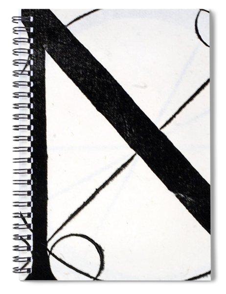 Letter N Spiral Notebook