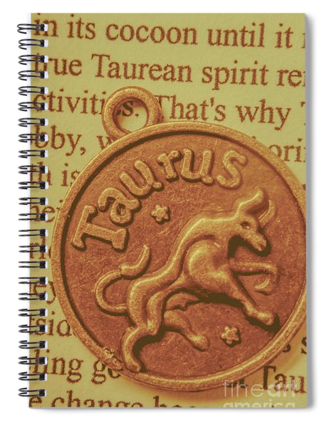 Letter Of Zodiac Taurus Spiral Notebook