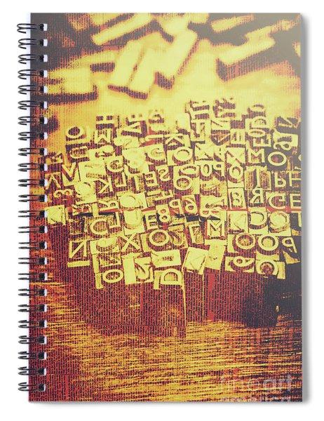 Letterpress Industrial Pop Art Spiral Notebook