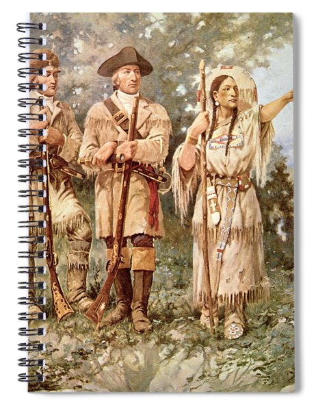 Lewis And Clark With Sacagawea Spiral Notebook