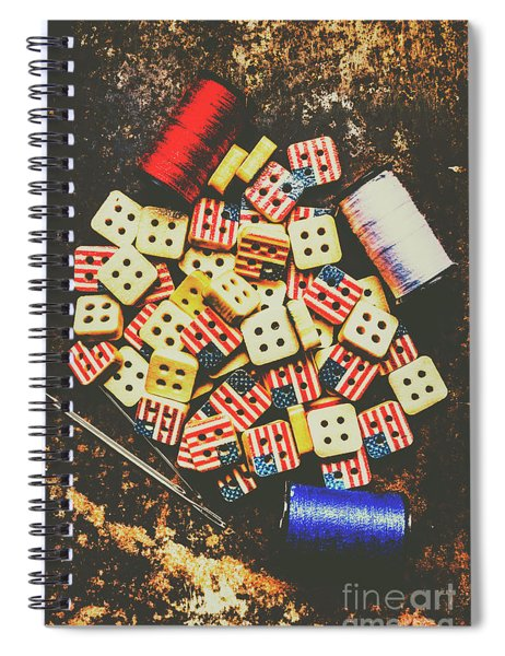 Liberty In Patchwork Spiral Notebook