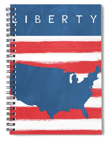 Liberty Spiral Notebook by Linda Woods