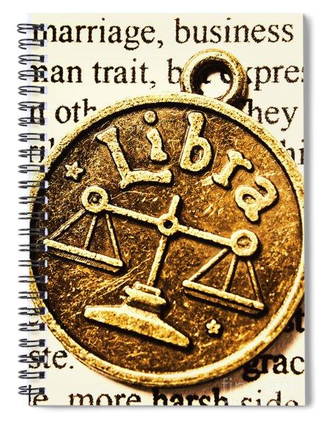 Libra Star Sign Spiral Notebook