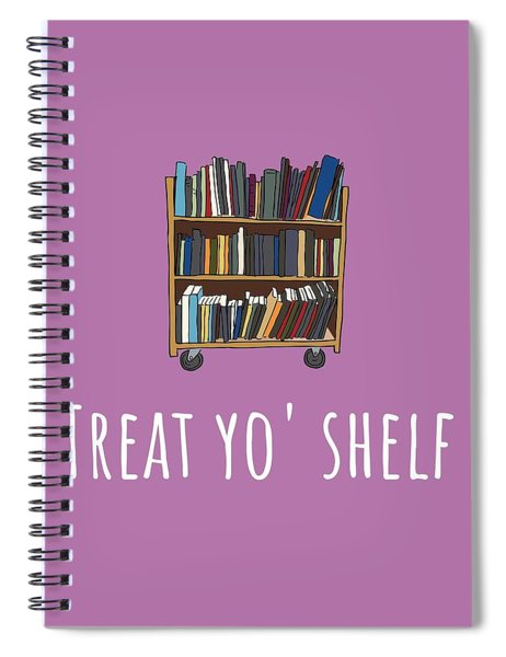 Librarian Card - Librarian Birthday Card - Treat Yo' Shelf - Library Greeting Card Card Spiral Notebook