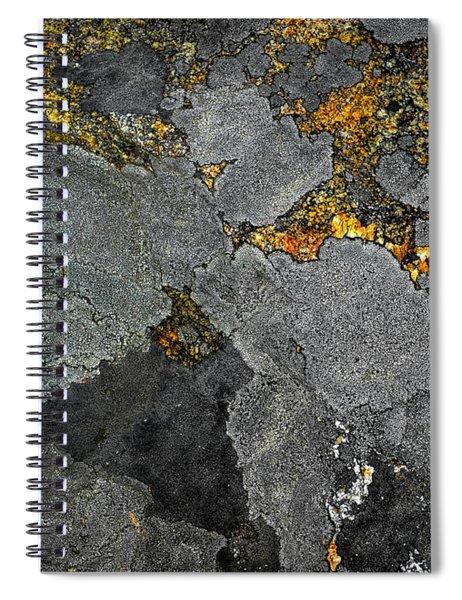 Lichen On Granite Rock Abstract Spiral Notebook