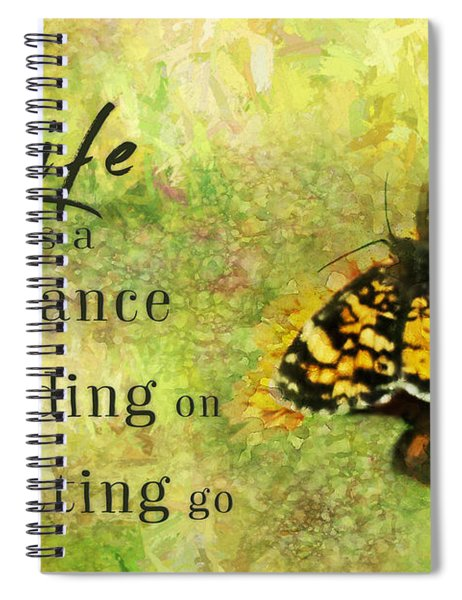 Life Is A Balance Spiral Notebook
