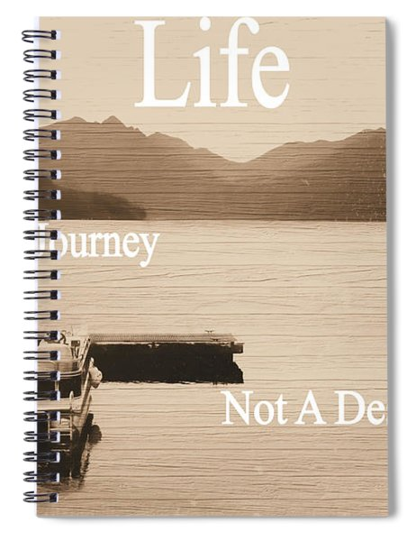 Life Is A Journey Spiral Notebook
