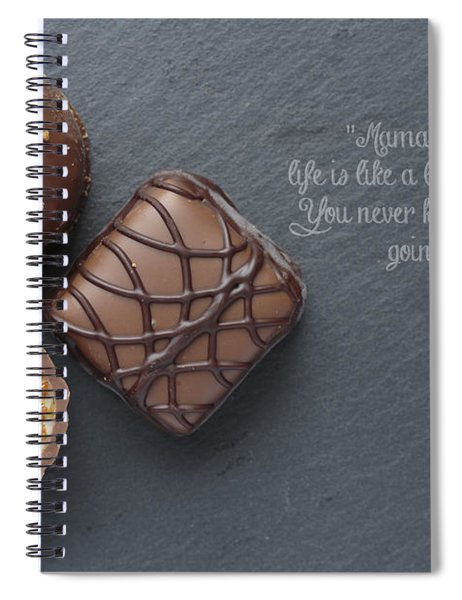 Life Is Like A Box Of Chocolate Forest Gump Quote Spiral Notebook