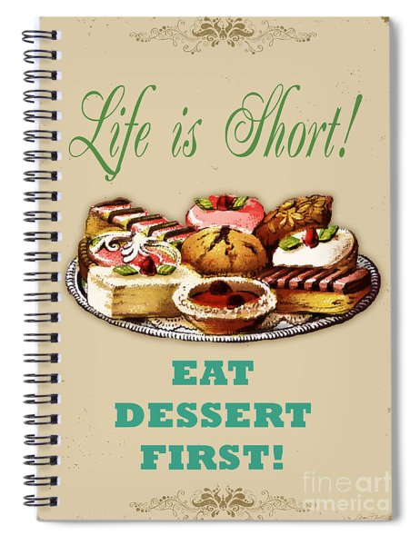 Life Is Short Typography-jp3733 Spiral Notebook