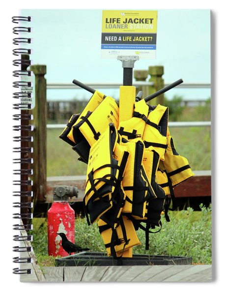 Life Jacket Station Spiral Notebook