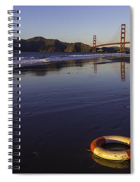 Life Ring And Golden Gate Bridge Spiral Notebook